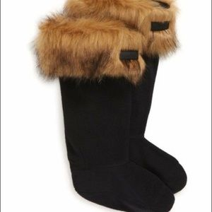 Hunter Original Faux Fur-Trim Boot Socks